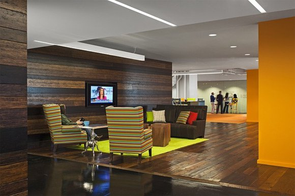 In 2016 corporate offices are taking a hint from home interior trends